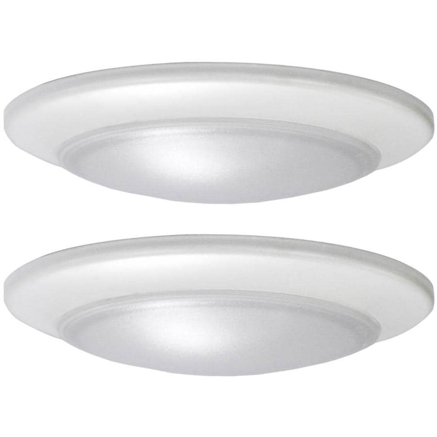 Project source 2 pack white modern contemporary - Flush mount bathroom ceiling lights ...