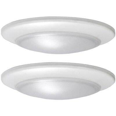 buy popular 3386e bfd3b 2-Pack 11.22-in White Modern/Contemporary LED Flush Mount Light ENERGY STAR