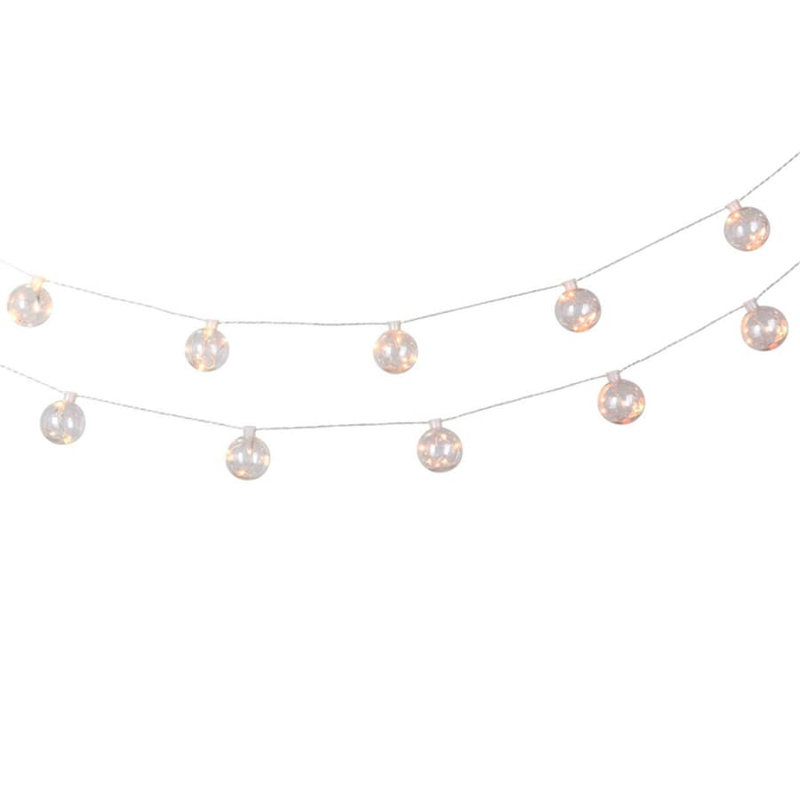 Shop allen + roth 12.5-ft 10-Light White Clear Plastic-Shade Led Plug-in Globe String Lights at ...