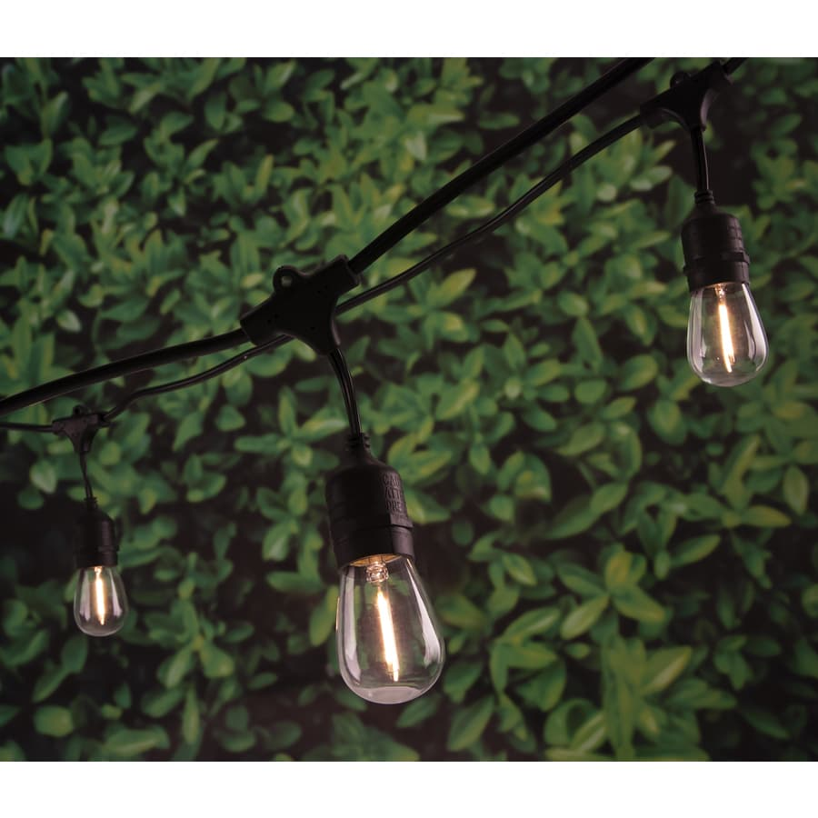 Shop Portfolio 24-ft 12-Light White LED Plug-in Bulbs String Lights at Lowes.com