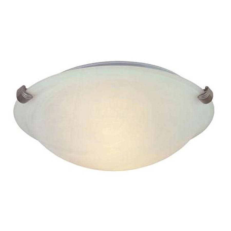 Portfolio Adorley 12-in W Brushed Nickel LED Flush Mount Light ENERGY STAR