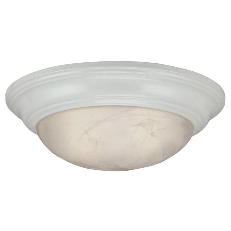 Portfolio 15-in W White LED Flush Mount Light