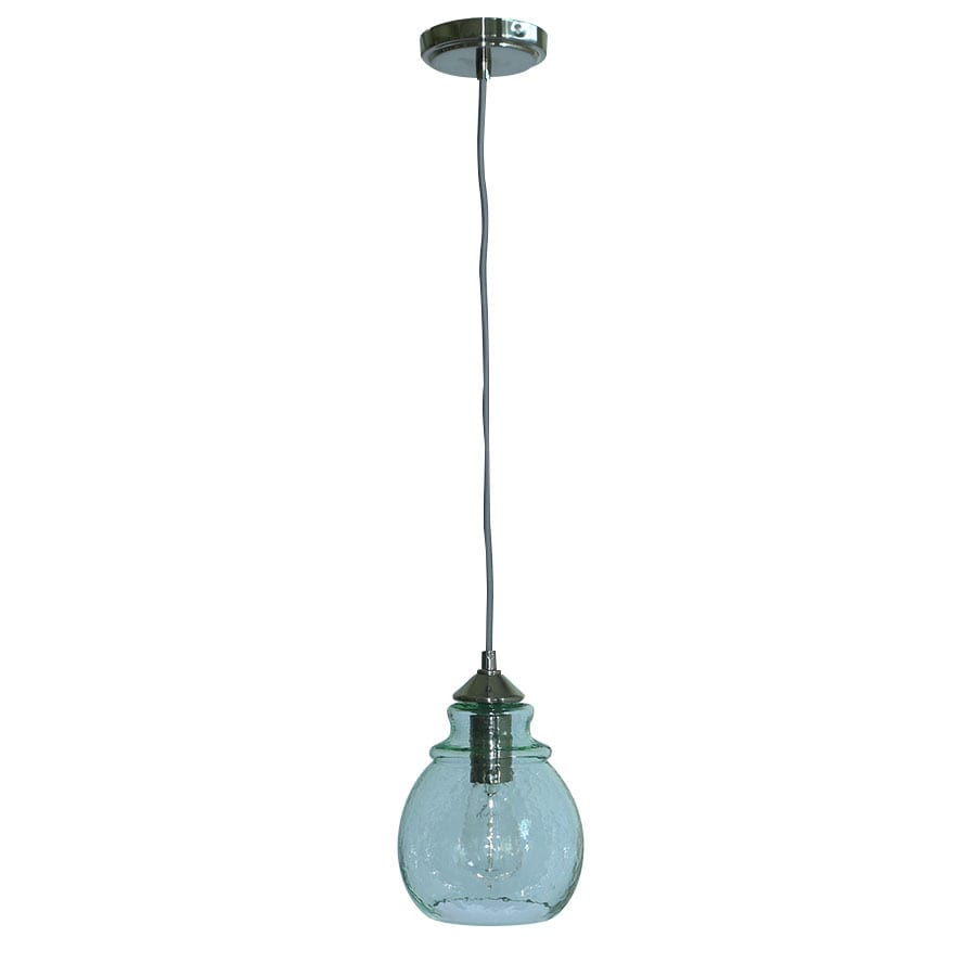 allen + roth 7.3-in Brushed Nickel Hardwired Mini Bell Pendant
