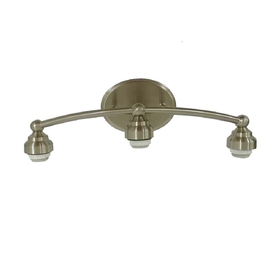 Shop Portfolio 3-Light 10-in Brushed Nickel Vanity Light Bar at Lowes.com
