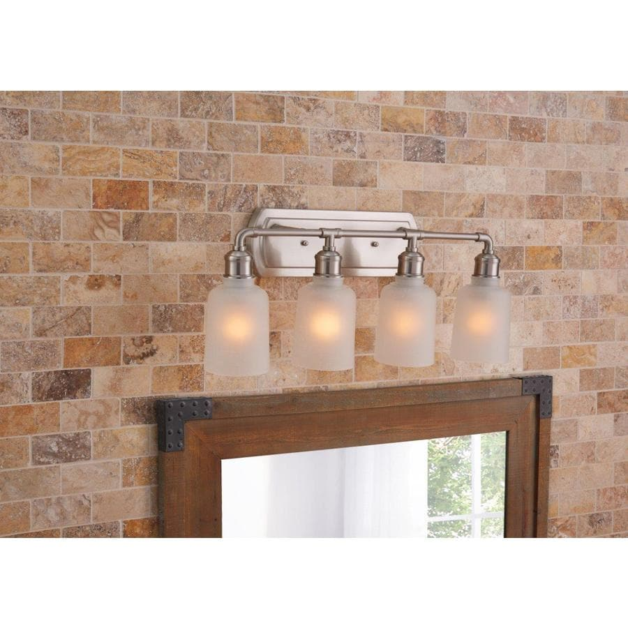 Vanity Light Bar Lowes : Shop Portfolio 4-Light 6.125-in Brushed Nickel Vanity Light Bar at Lowes.com