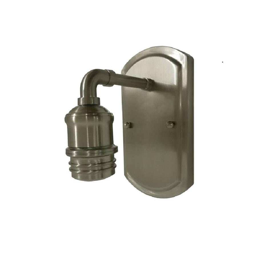 Portfolio Wall Sconce Brushed Nickel : Shop Portfolio 5.75-in W 1-Light Brushed Nickel Arm Wall Sconce at Lowes.com