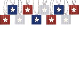 allen + roth 8.83-ft 10-Light Metal-Shade Plug-In 4th of July String Lights