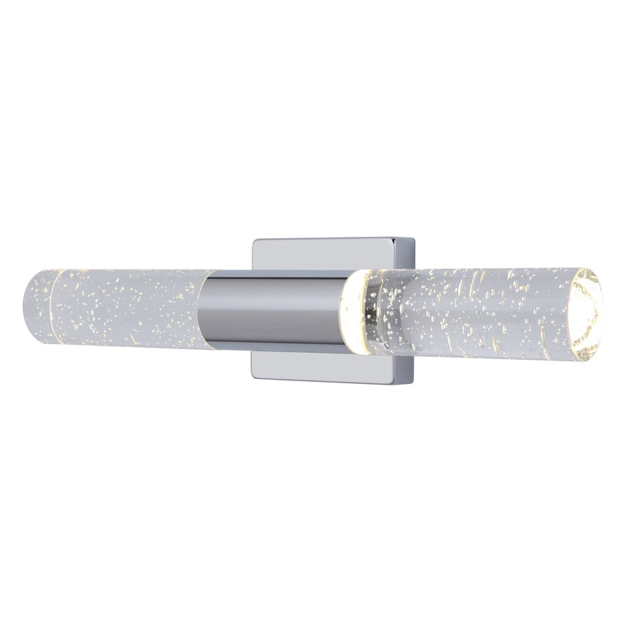 Shop allen + roth Dunwynn 1-Light 18-in Chrome Cylinder LED Vanity ...