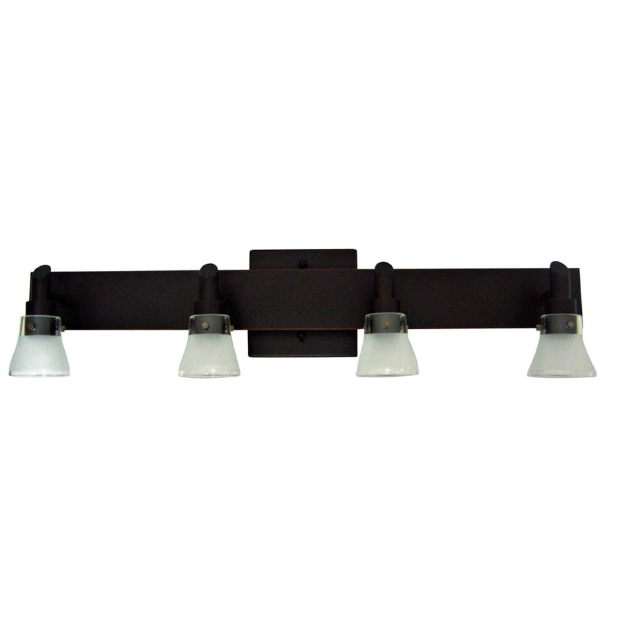 Portfolio 4 Light Oil Rubbed Bronze Bathroom Vanity Light