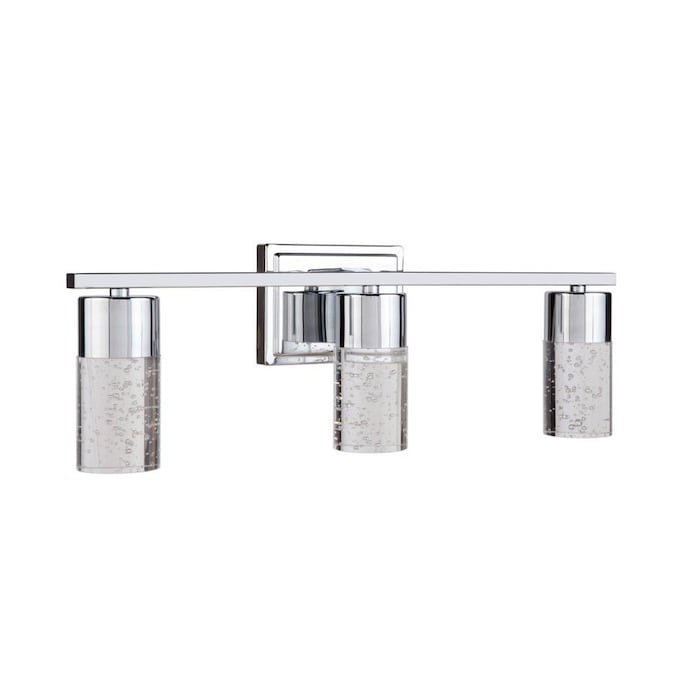 allen + roth Dunwynn 3-Light Chrome Modern/Contemporary ...