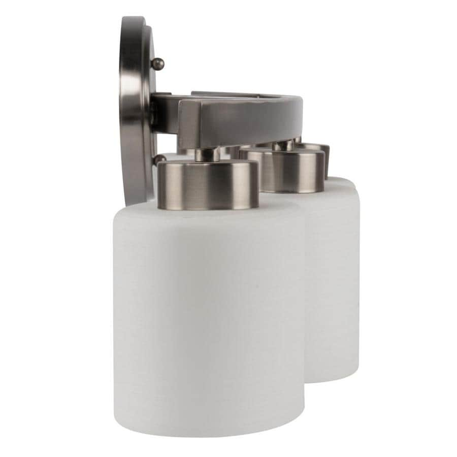 "Allen+Roth Merrington 3-Light 9"" Brushed Nickel Bathroom ..."