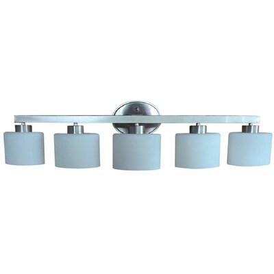 Merington 5 Light Nickel Transitional Vanity Bar