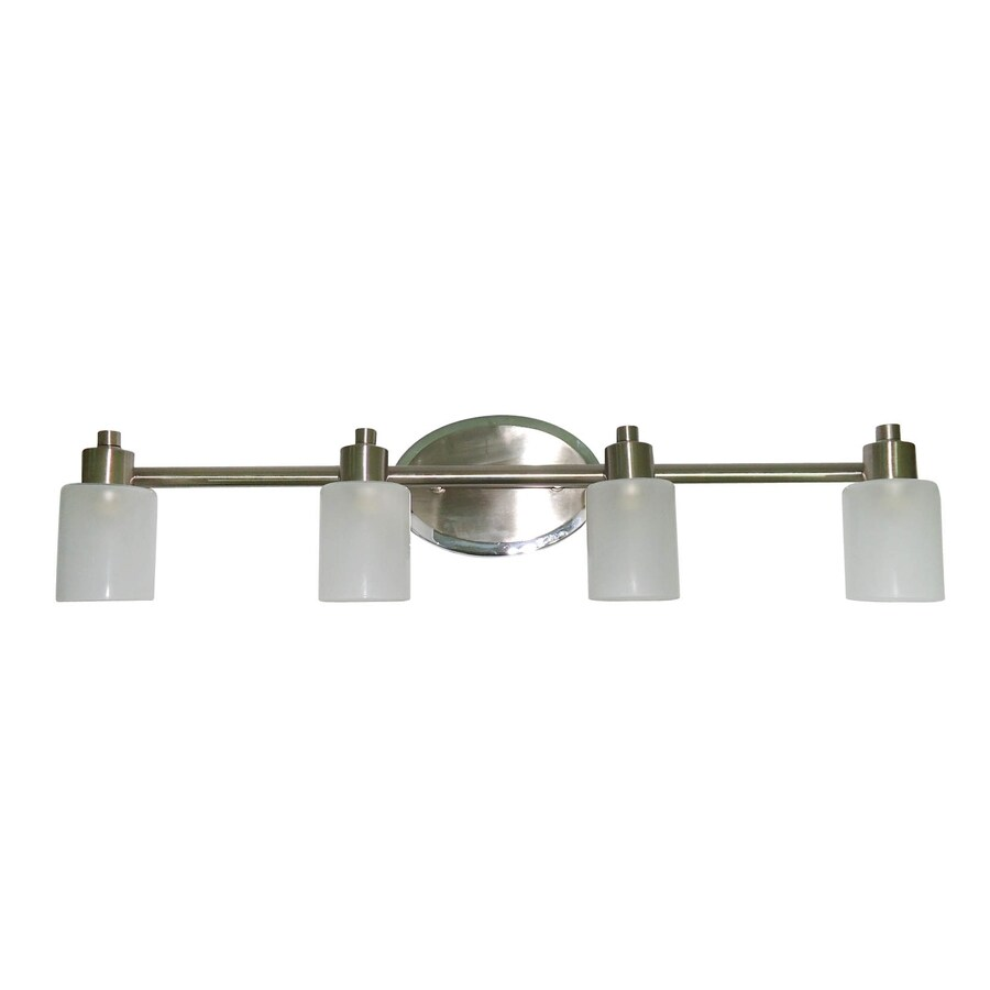 Style Selections 4 Light Style Selection Brushed Nickel