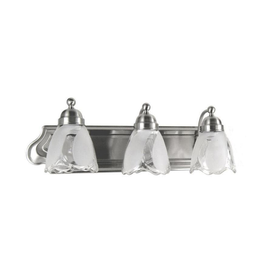 3 Light Vanity Bar Portfolio : Shop Portfolio 3-Light 7.25-in Satin Nickel Bell Vanity Light Bar at Lowes.com