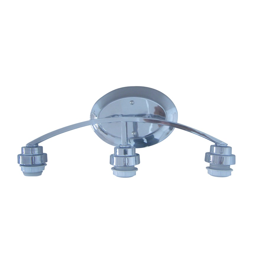 Shop Portfolio 3-Light 17.5-in Chrome Vanity Light Bar at Lowes.com