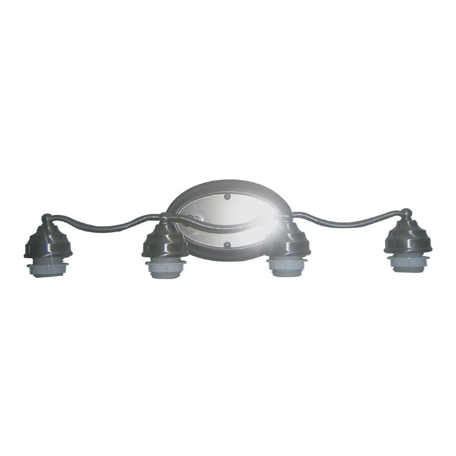 Portfolio 4-Light Brushed Nickel Vanity Light Bar
