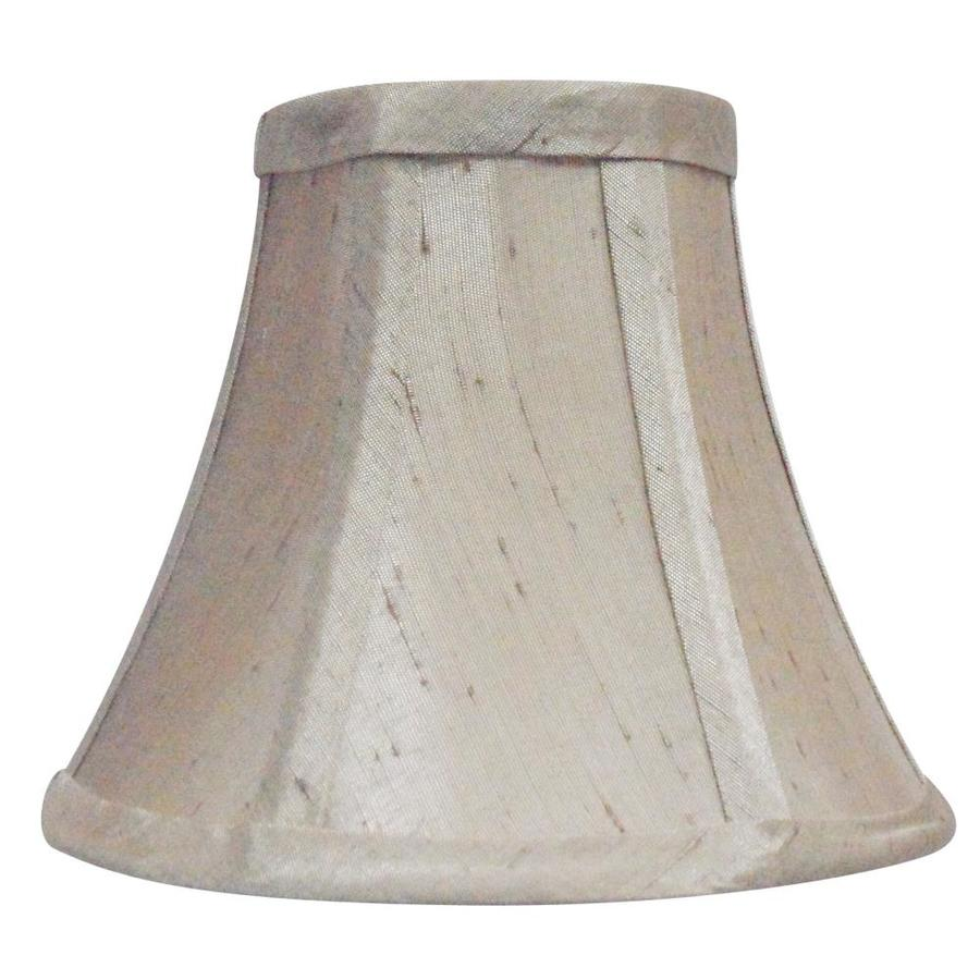 allen + roth 5-in x 6-in Silken Toast Fabric Bell Lamp Shade