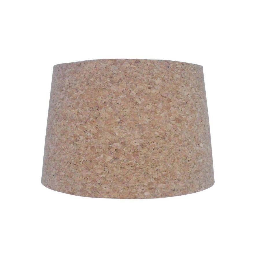 Shop style selections 9 in x 13 in cork fabric drum lamp shade at style selections 9 in x 13 in cork fabric drum lamp shade aloadofball Images