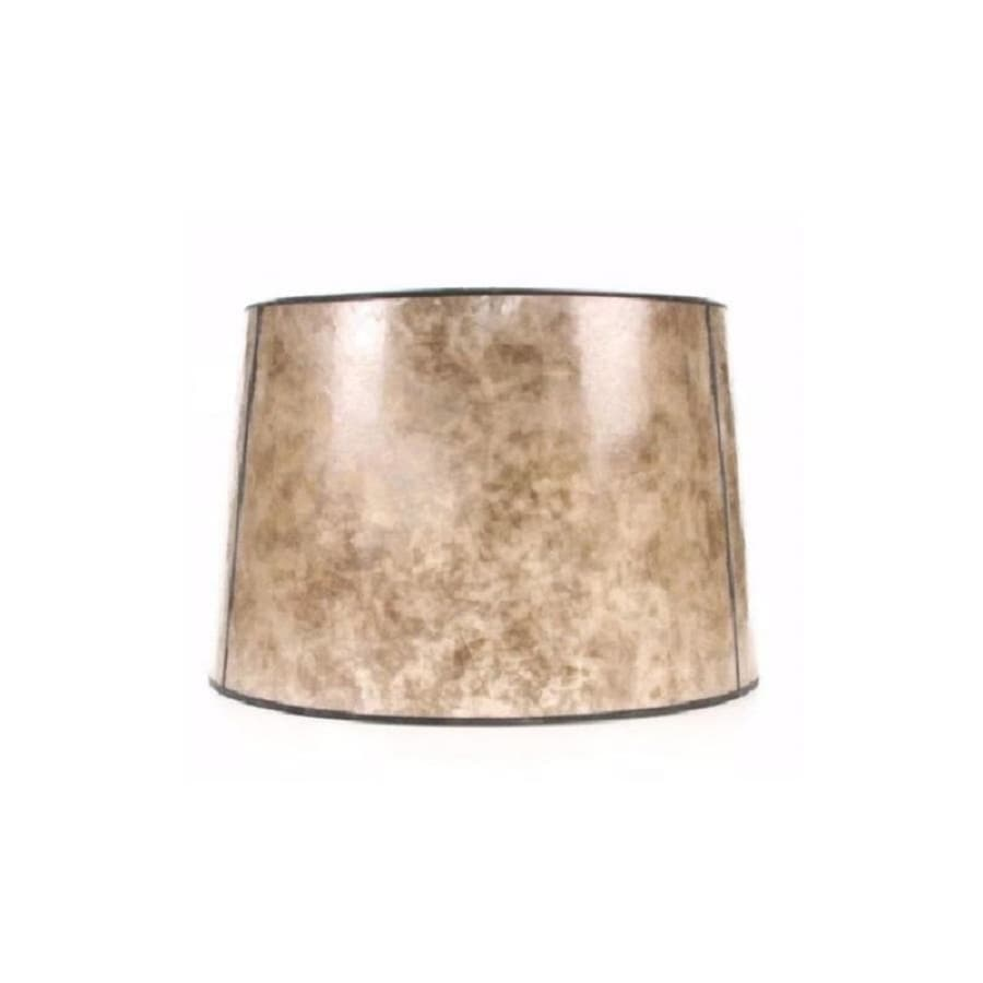 Allen + Roth 10 In X 15 In Blonde Mica Stone Drum Lamp Shade