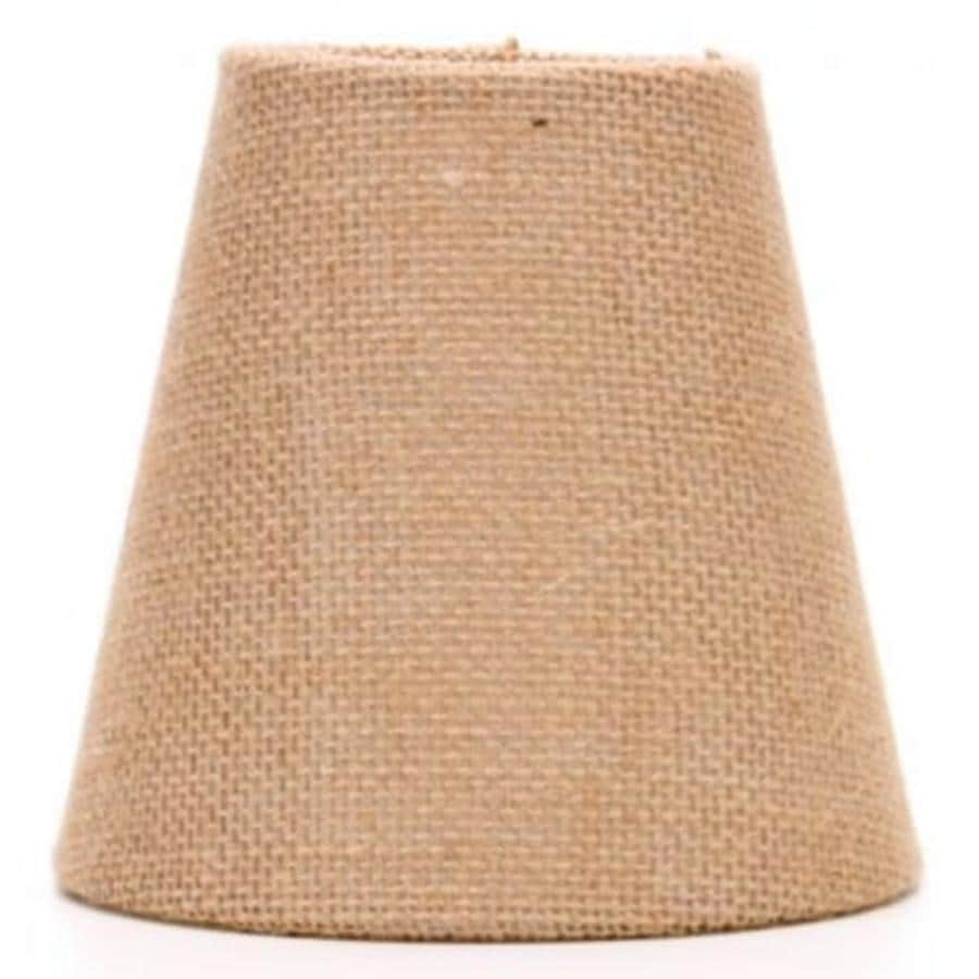 Shop allen roth 5 in h burlap chandelier light shade at lowes allen roth 5 in h burlap chandelier light shade arubaitofo Images