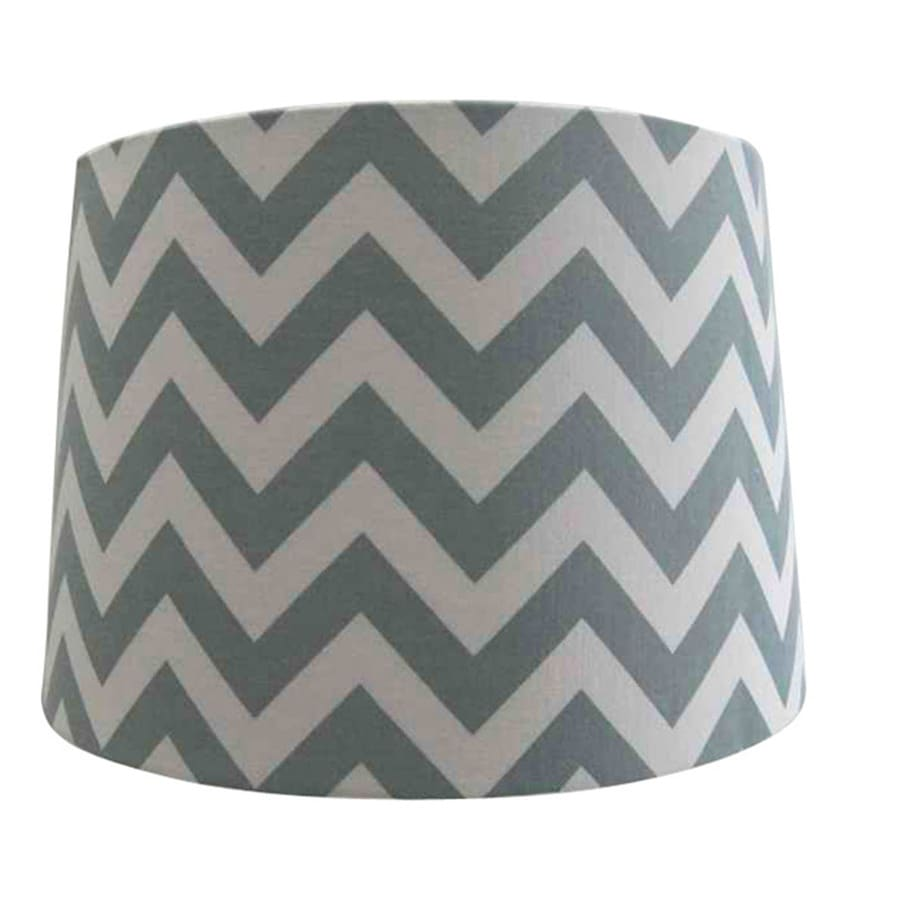 Shop Style Selections 10-in x 13-in Chevron Fabric Drum Lamp Shade ...
