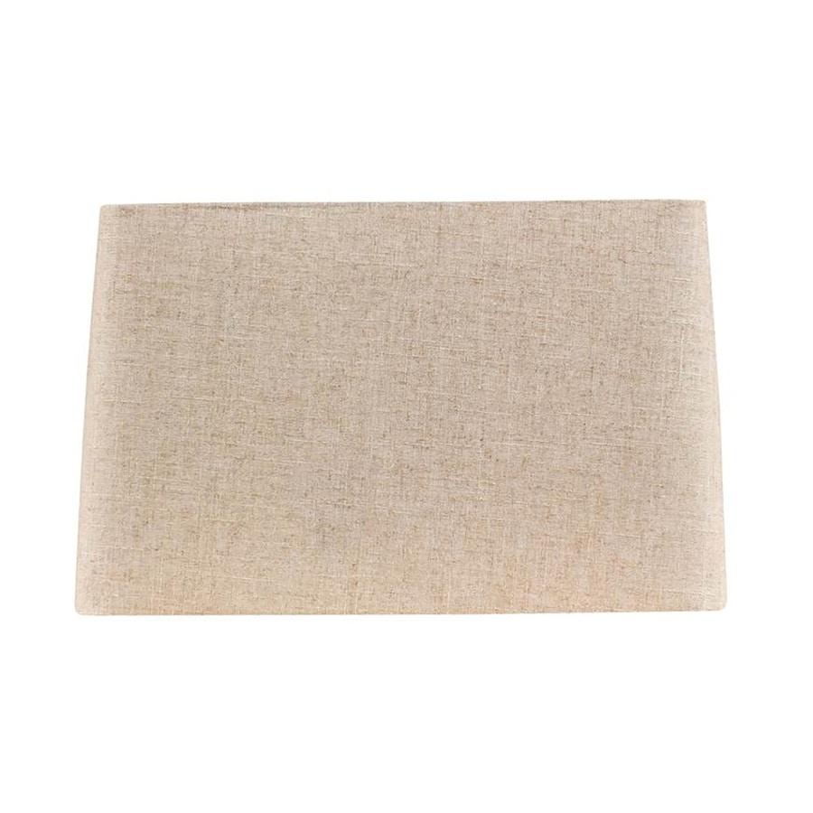 Shop allen + roth 10-in x 16-in Tan Fabric Rectangular Lamp Shade ...