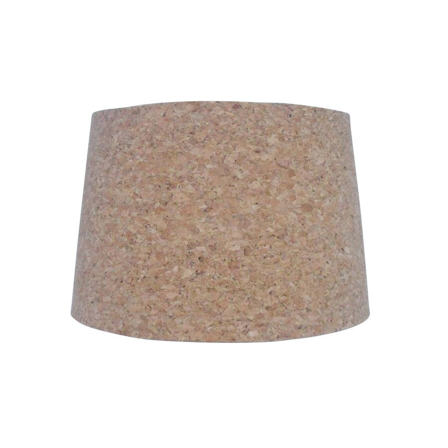 Shop allen roth 9 in x 13 in brown cork drum lamp shade at lowes allen roth 9 in x 13 in brown cork drum lamp shade aloadofball Images