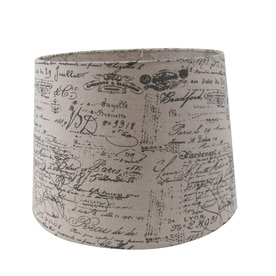 Shop lamp shades at lowes allen roth 11 in x 13 in tan fabric drum lamp shade aloadofball Images