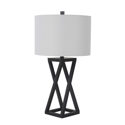 Scott Living 28 In Matte Black 3 Way Table Lamp With Fabric Shade by Lowe's