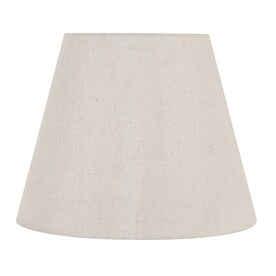 Allen Roth 12 5 In X 17 In Cream Fabric Bell Lamp Shade In The Lamp Shades Department At Lowes Com