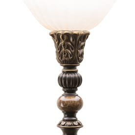 Portfolio Barada 72 In Bronze Foot Switch Torchiere Floor Lamp With Glass Shade At Lowes Com