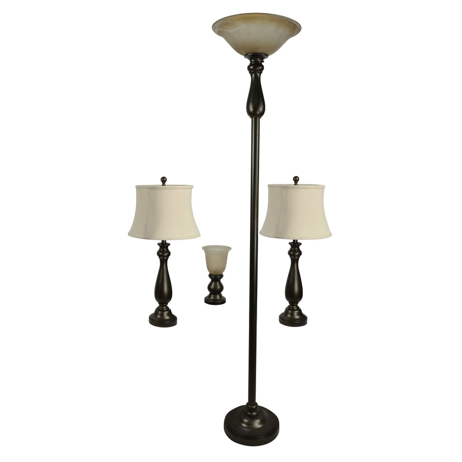 lighting sets. Portfolio Baybrook 4-Piece Lamp Set With Bronze Shades Lighting Sets