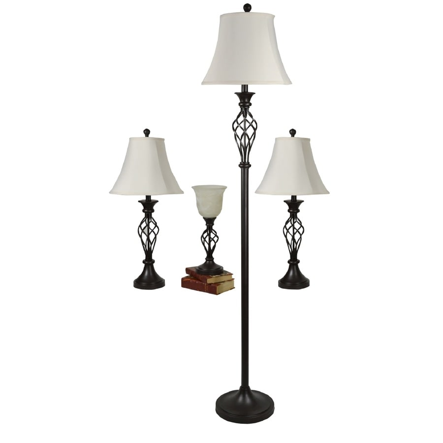 lighting sets. Portfolio Clairiby 4-Piece Lamp Set With White Shades Lighting Sets Lowe\u0027s