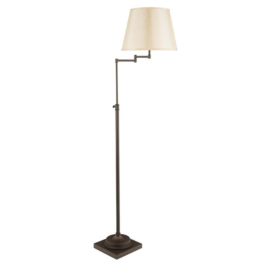 Shop allen roth hillam 64 in bronze swing arm floor lamp with allen roth hillam 64 in bronze swing arm floor lamp with fabric shade aloadofball Gallery
