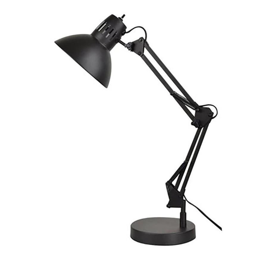shop allen roth embleton 26 in adjustable bronze swing arm desk lamp with metal shade at. Black Bedroom Furniture Sets. Home Design Ideas