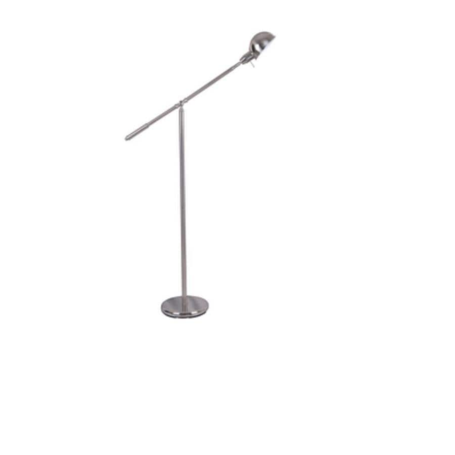 Portfolio Embleton 56-in Brushed Nickel Pharmacy Floor Lamp with Metal Shade