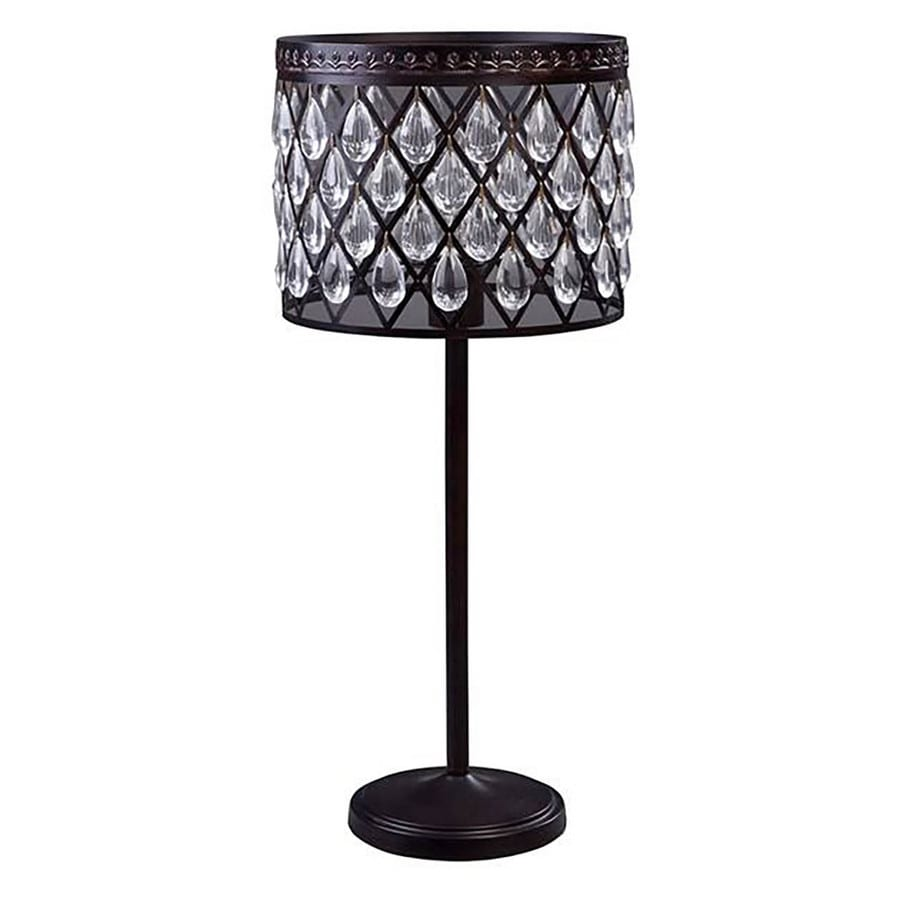 Shop allen roth eberline 25 in bronze electrical outlet onoff allen roth eberline 25 in bronze electrical outlet onoff switch table lamp geotapseo Gallery