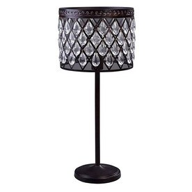 Shop eberline bronze table lamps at lowes allen roth eberline 25 in bronze electrical outlet onoff switch table lamp aloadofball Choice Image