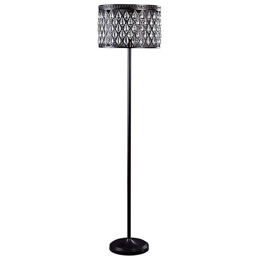 Allen Roth Eberline 605 In Bronze Foot Switch Floor Lamp With Metal Shade