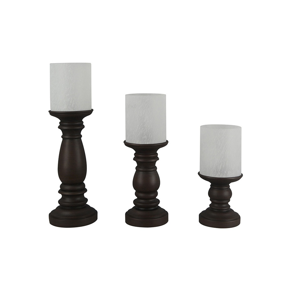 Portfolio 3-Piece Bronze Casual/Transitional Lighting Technology Lamp Set with Glass Shades