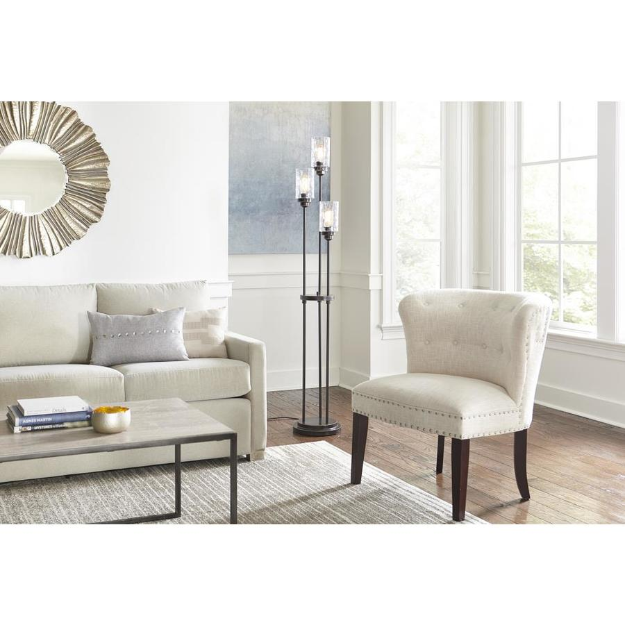 allen + roth Bronze Multi-Head Floor Glass Lamp Living Room Lighting ...
