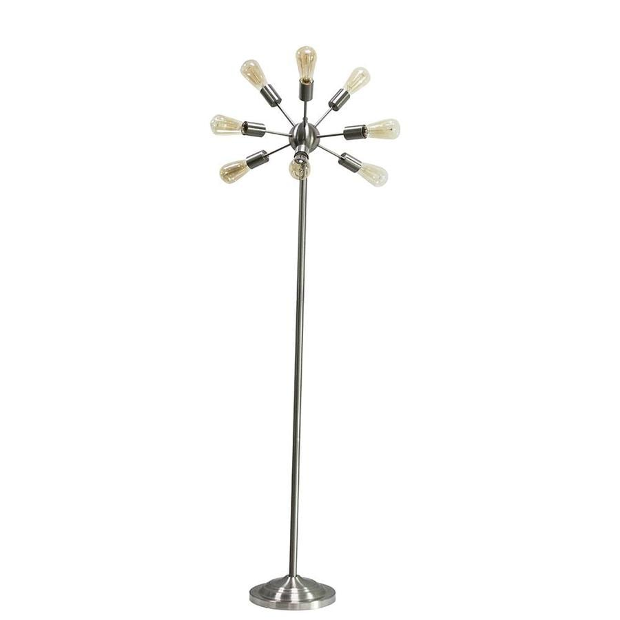 shop style selections grayford 64 5 in brushed nickel foot switch multi head floor lamp at. Black Bedroom Furniture Sets. Home Design Ideas