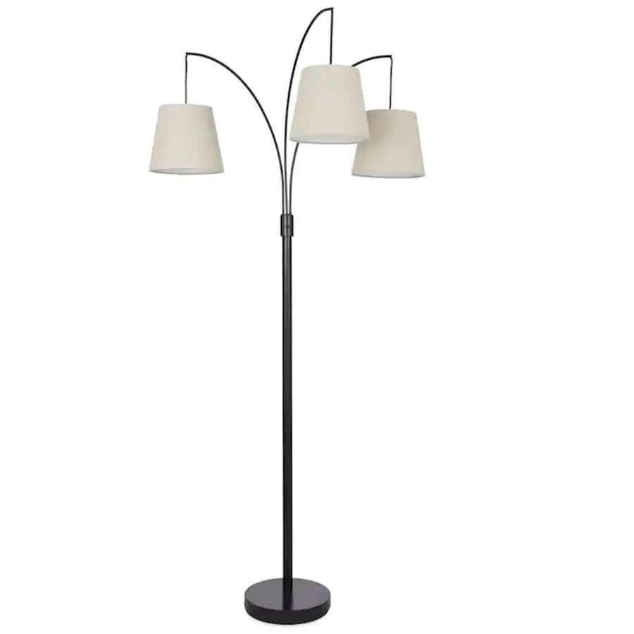 allen + roth 80-in Bronze 4-way Multi-head Floor Lamp with