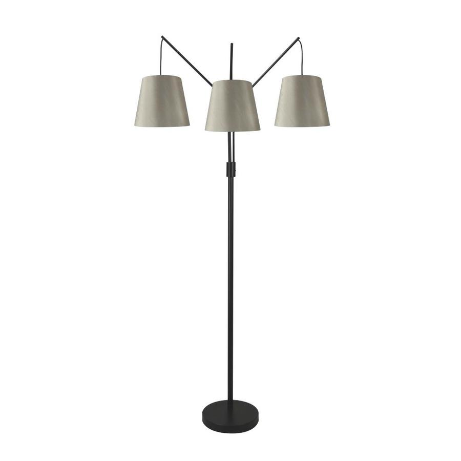 Shop allen + roth 80-in Bronze Multi-Head Floor Lamp with ...
