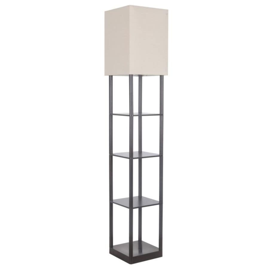Shop allen roth 63 in bronze foot switch shelf built in table allen roth 63 in bronze foot switch shelf built in table floor lamp aloadofball Choice Image