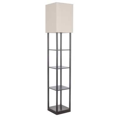 Roth 63 In Bronze Shelf Floor Lamp At