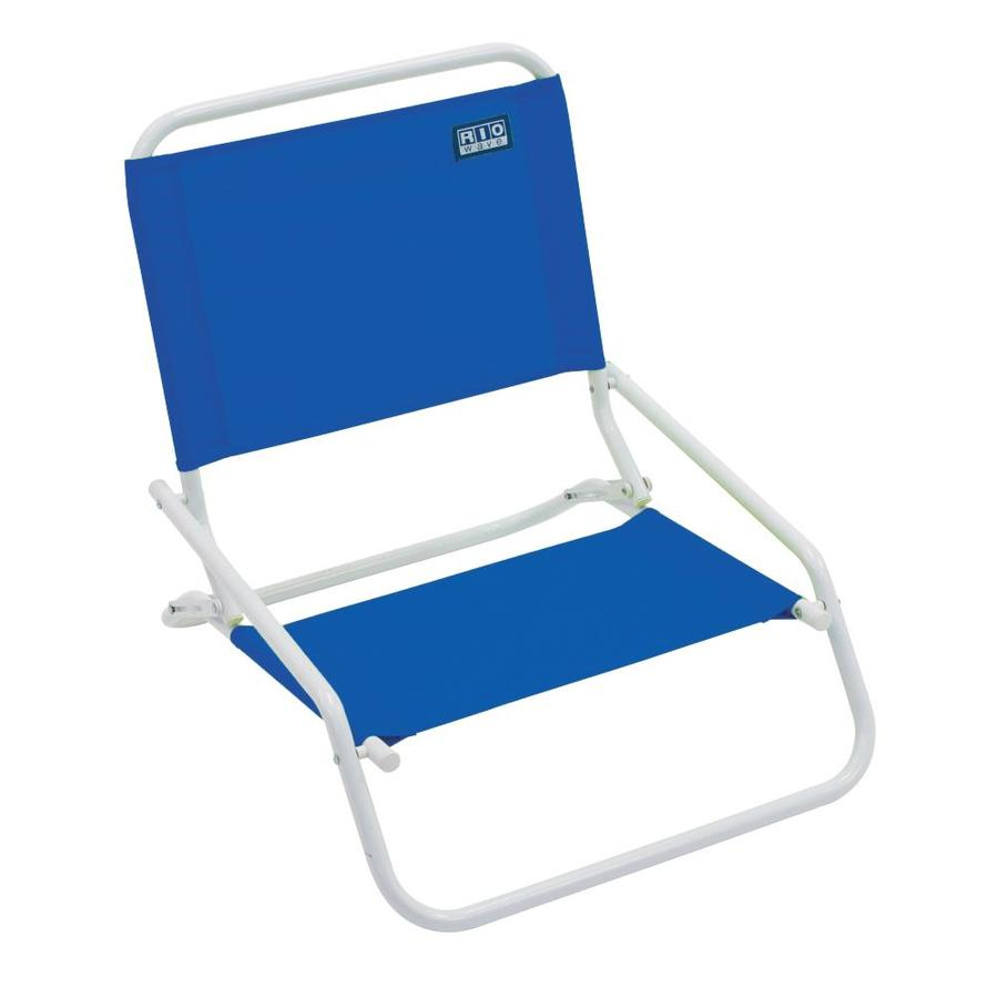 Superbe RIO Brands Blue Steel Folding Beach Chair