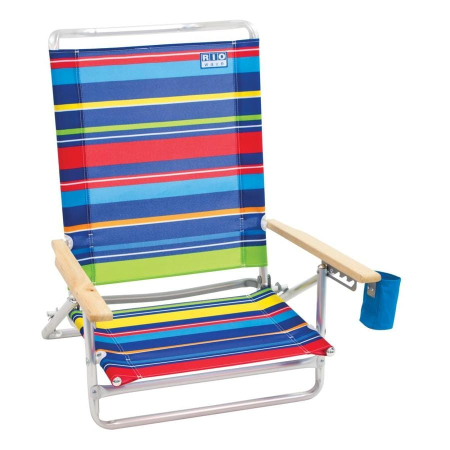 RIO Brands Folding Beach Chair At Lowes.com