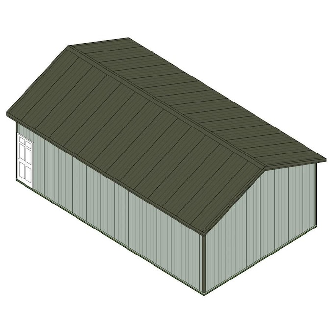 MASTER Building Components Old Town Gray 24-ft W x 10-ft H ...
