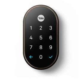 Yale Nest X Yale Lock With Nest Connect Oil Rubbed Bronze Single Cylinder  Deadbolt With